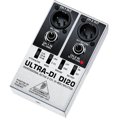 Behringer DI20 Ultra DI 2-Channel Active DI Box/Splitter-thumbnail