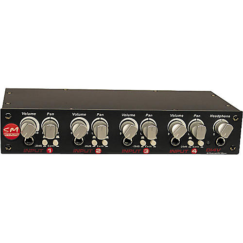 SM Pro Audio DI4v 4-Channel Direct Injection/Line Mixer