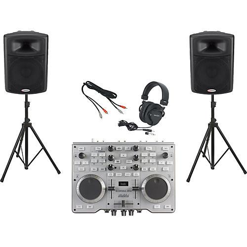 Hercules DJ Console MK4 / Harbinger APS15 DJ Package