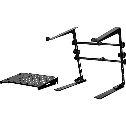 DR Pro DJ Laptop Stand and Shelf Bundle Black