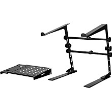 DR Pro DJ Laptop Stand and Shelf Bundle Level 1 Black