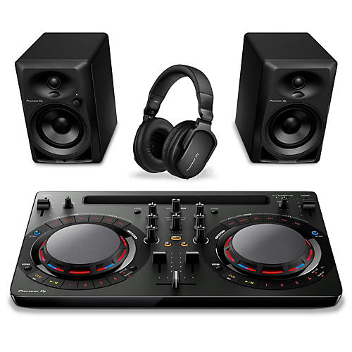 open box pioneer dj performance pack musician 39 s friend. Black Bedroom Furniture Sets. Home Design Ideas