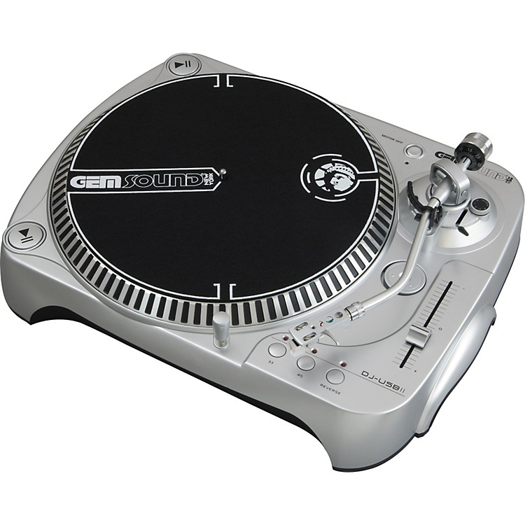 Gem Sound DJ-USB II Belt-Drive USB Turntable