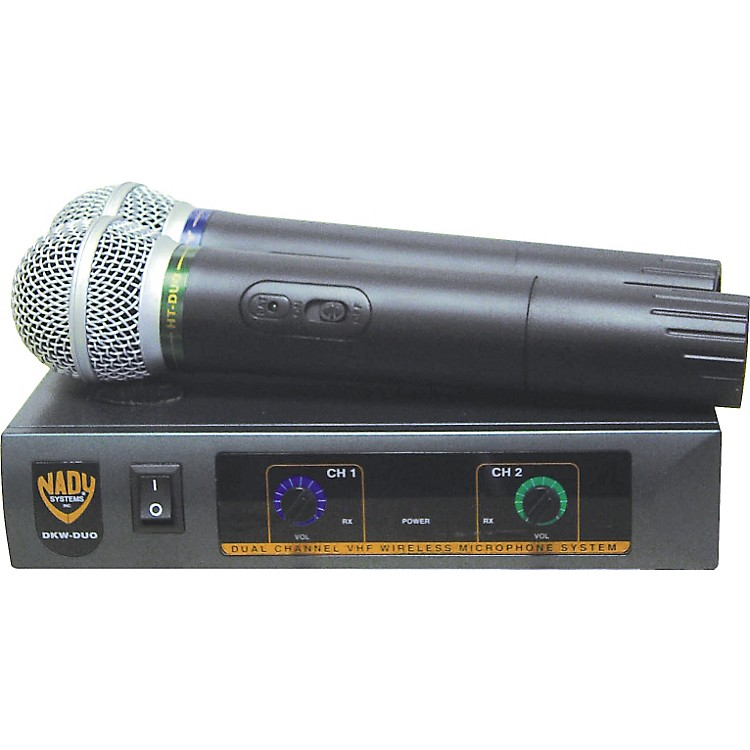 Nady DKW-Duo Dual Channel VHF Handheld Microphone System Channel B/D