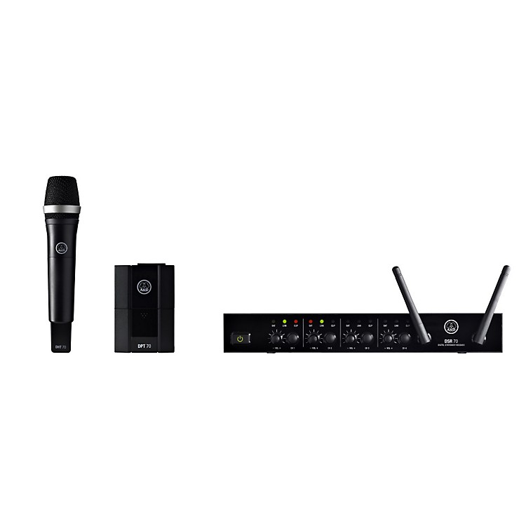 AKGDMS70 Quattro Digital Wireless Microphone Vocal/Instrument Set