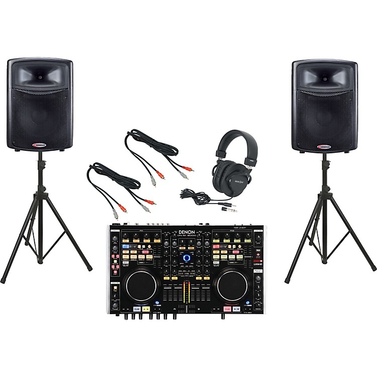 Denon DN-MC6000 / Harbinger APS15 DJ Package