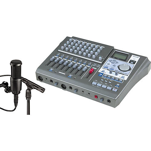 Tascam DP-01FX & A/T Microphone Recording Package-thumbnail