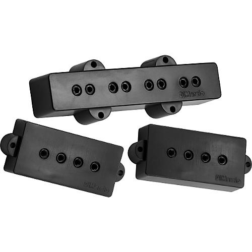 DiMarzio DP126 P+J Neck and Bridge Bass Pickup Set Black