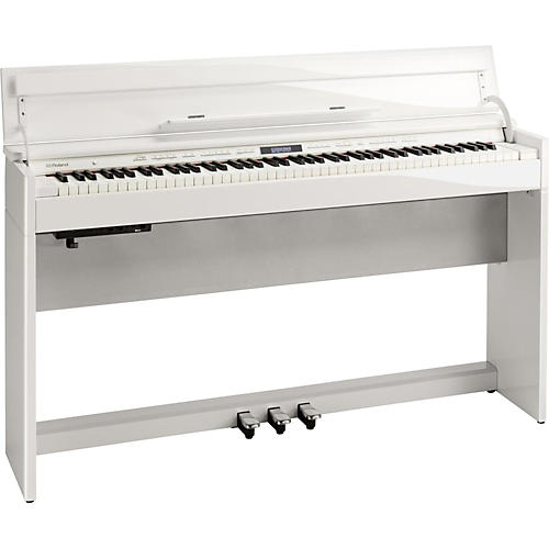 Roland DP603 Digital Home Piano with Bench Polished White-thumbnail