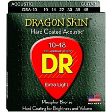 DR Strings DSA-10 Dragonskin K3 Coated Acoustic Strings Light
