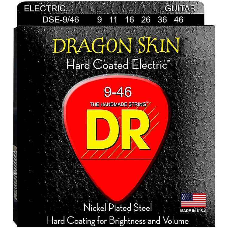 DR Strings DSE-9/46 Dragon Skin Coated Light-Medium Electric Guitar Strings