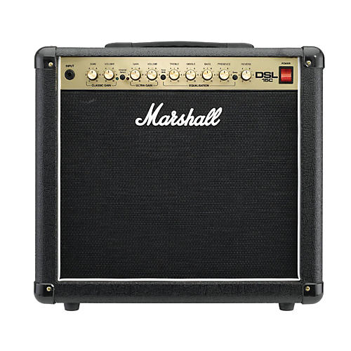 marshall dsl15c 15w all tube 1x12 guitar combo amp black musician 39 s friend. Black Bedroom Furniture Sets. Home Design Ideas