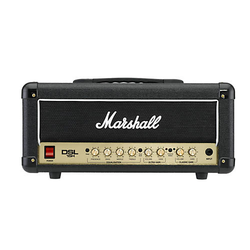 marshall dsl15h 15w all tube guitar amp head black musician 39 s friend. Black Bedroom Furniture Sets. Home Design Ideas