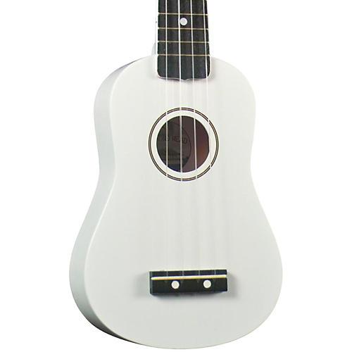 Diamond Head DU-10 Soprano Ukulele White Black Fingerboard