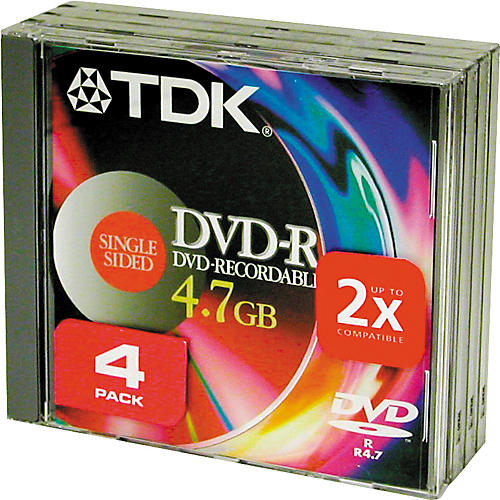 TDK DVD-R 47 S4 4 Pack-thumbnail