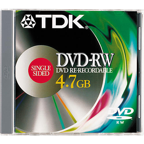 TDK DVD-RW 47 Single Rewriteable DVD-thumbnail