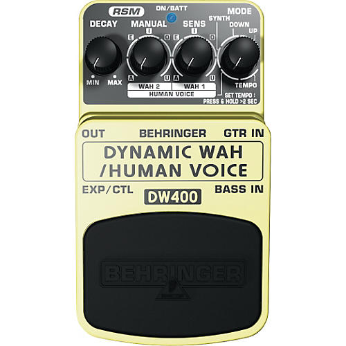 Behringer DW400 Dynamic Wah/Human Voice Effects Pedal-thumbnail