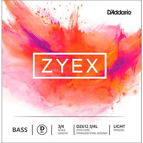 D'Addario DZ612 Zyex 3/4 Bass Single D String Light