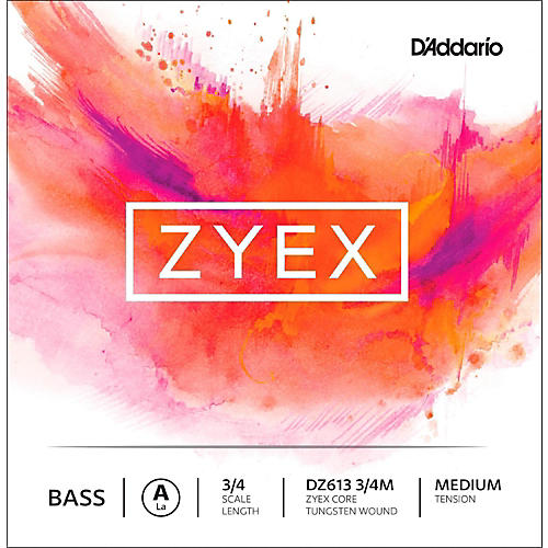 D'Addario DZ613 Zyex 3/4 Bass Single A String Medium