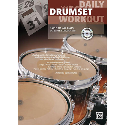 Alfred Daily Drumset Workout Book & MP3 CD-thumbnail