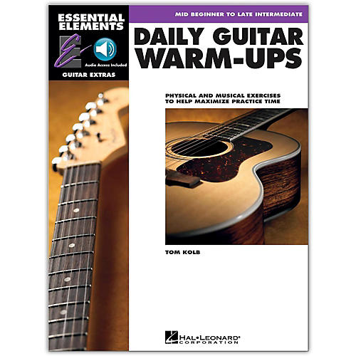 Hal Leonard Daily Guitar Warm-Ups Essential Elements Guitar (Book/Online Audio)-thumbnail