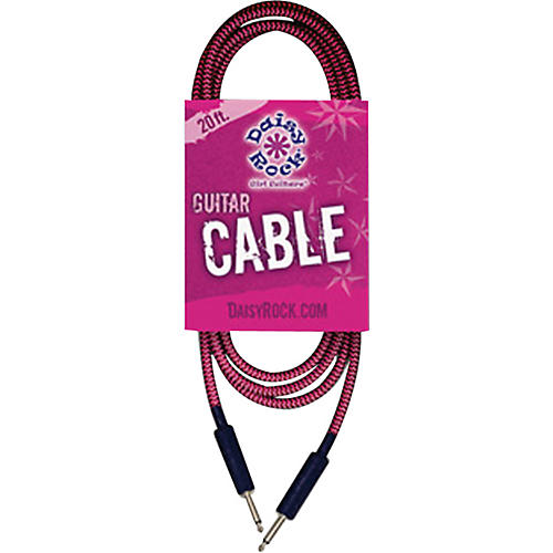Daisy Rock Daisy Rock 20 ft. Guitar Cable - Pink/Black-thumbnail