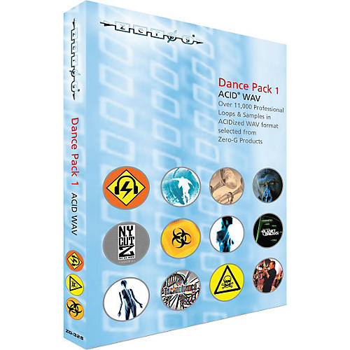 Zero G Dance Pack 1 ACID WAV Sample Library (2 DVD Set)
