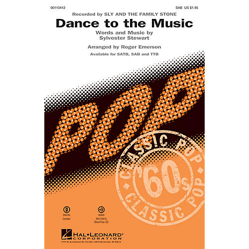 Hal Leonard Dance to the Music (SAB) SAB by Sly and the Family Stone arranged by Roger Emerson-thumbnail