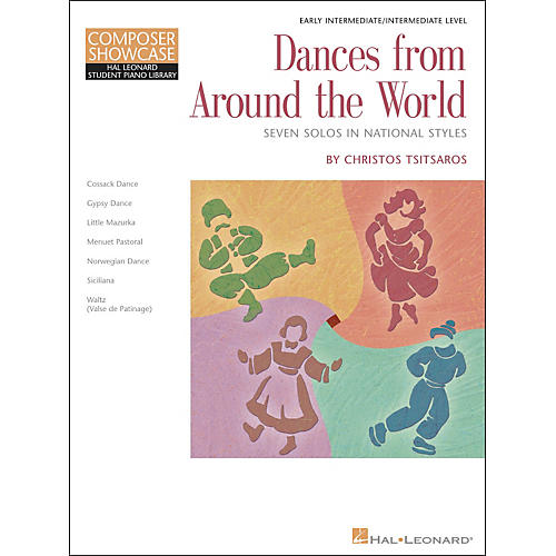 Hal Leonard Dances From Around The World - Early Intermediate/Intermediate Level Hal Leonard Student Piano Library by Chris Tsitsaros-thumbnail