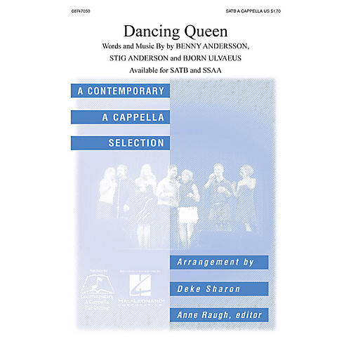 Hal Leonard Dancing Queen SATB a cappella by ABBA arranged by Deke Sharon