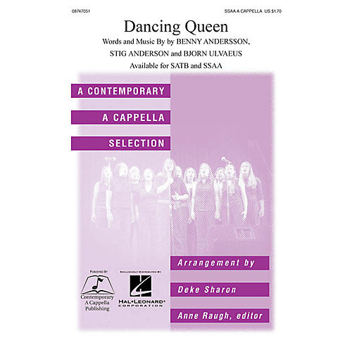 Hal Leonard Dancing Queen SSAA A Cappella by ABBA arranged by Deke Sharon-thumbnail