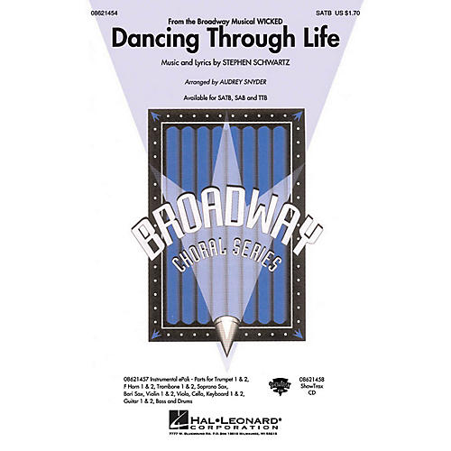 Hal Leonard Dancing Through Life (from Wicked) SATB arranged by Audrey Snyder