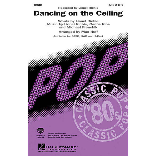 Hal Leonard Dancing on the Ceiling 2-Part by Lionel Richie Arranged by Mac Huff-thumbnail