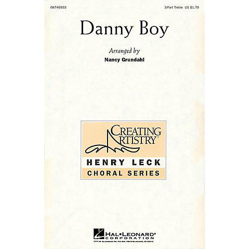 Hal Leonard Danny Boy 3 Part Treble arranged by Nancy Grundahl