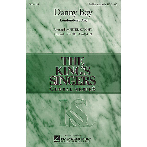 Hal Leonard Danny Boy (Londonderry Air) SATB DV A Cappella by The King's Singers arranged by Peter Knight-thumbnail