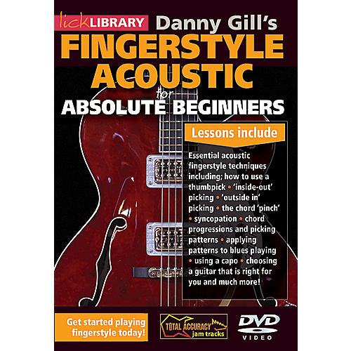 Licklibrary Danny Gill's Fingerstyle Acoustic (Absolute Beginners) Lick Library Series DVD Written by Danny Gill-thumbnail