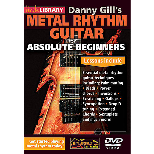 Licklibrary Danny Gill's Metal Rhythm Guitar (Absolute Beginners Series) Lick Library Series DVD by Danny Gill-thumbnail