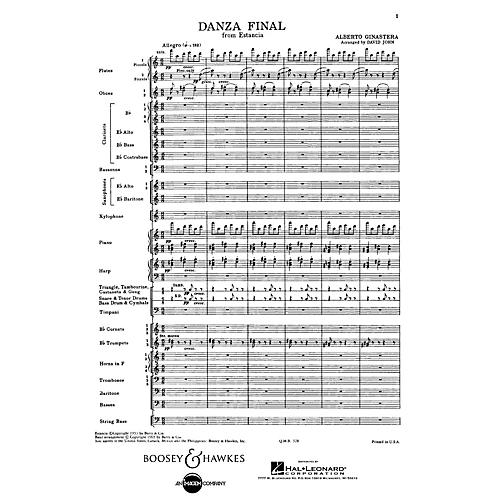 Boosey and Hawkes Danza Final (from Estancia) Concert Band Composed by Alberto E. Ginastera Arranged by David John-thumbnail