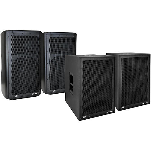 Peavey Dark Matter DM 112 Powered Speaker and DM115 Sub Pair-thumbnail