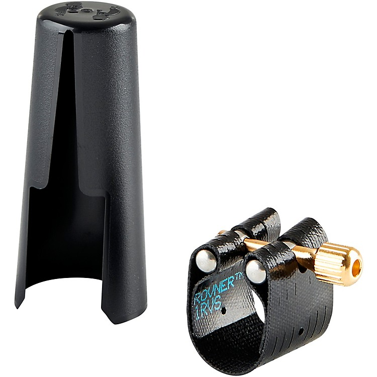 Rovner Dark Soprano Saxophone Ligature and Cap 1MS Most Metal Soprano Sax Mouthpieces
