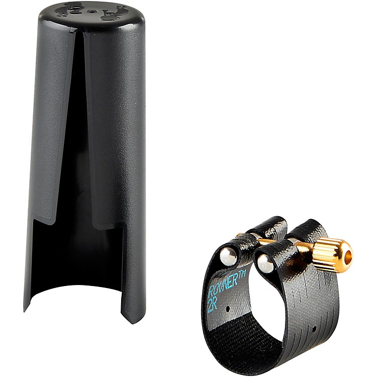 Rovner Dark Tenor Saxophone Ligature and Cap 2R -Fits Most Rubber Tenor Sax Mouthpieces