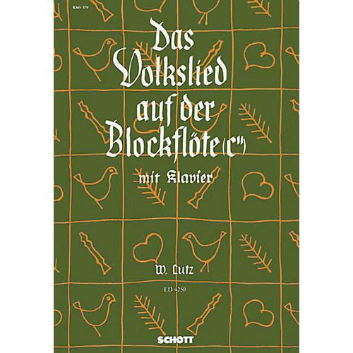 Schott Das Volkslied auf der Blockflöte Schott Series-thumbnail