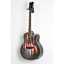 Dean Dave Mustaine Mako Glory Acoustic-Electric Guitar Level 2 USA Flag Graphic 888366053713