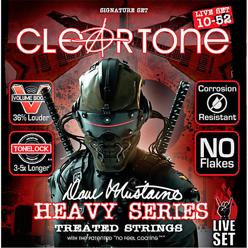Cleartone Dave Mustaine Signature Live Set Electric Guitar Strings (10-52)-thumbnail