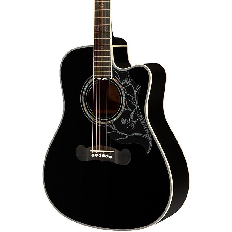 EpiphoneDave Navarro Signature Model Acoustic-Electric GuitarEbony