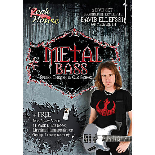 Rock House David Ellefson of Megadeth Metal Bass Speed, Thrash & Old School DVD