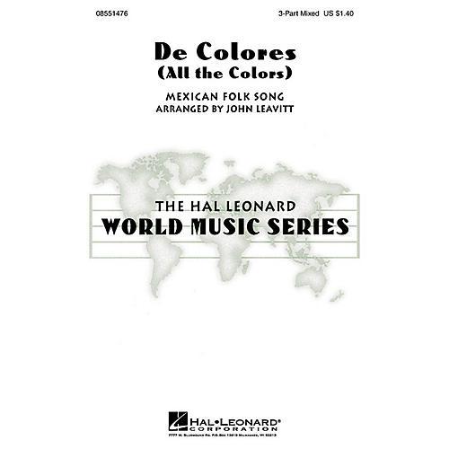 Hal Leonard De Colores (All the Colors) 2-Part Arranged by John Leavitt-thumbnail