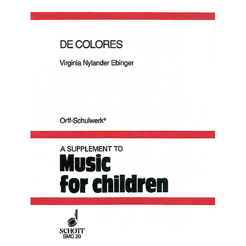 Schott De Colores (Folklore from the Hispanic Tradition) Schott Series-thumbnail