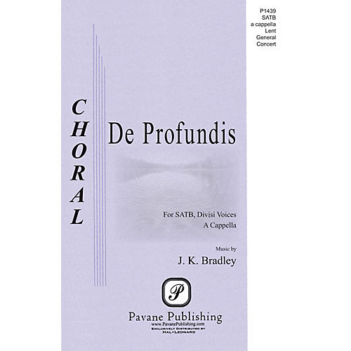 Pavane De Profundis SATB a cappella composed by Kane Bradley
