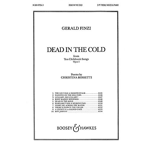 Boosey and Hawkes Dead in the Cold (from Ten Children's Songs, Op. 1) 2-Part composed by Gerald Finzi